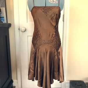 Papell Boutique silk and beaded dress